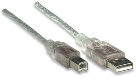 CABLE PRINTER USB-USB A-B 2.0 3MTS TRANSP. CX