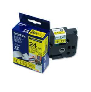 CINTA BROTHER TZE651 P/ROTULADORA 24MM NEGRO-AMARILLO en internet