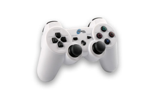 GAMEPAD PARA PS3 6 AXIS BLUETOOTH BLANCO - tienda online