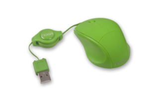 MOUSE MINI RETRACTIL VERDE en internet