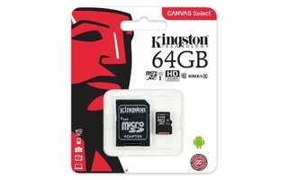 MICRO SD 64GB KINGSTON CANVAS CLASE 10 SDHC/SDXC - Uno Informática Ecommerce