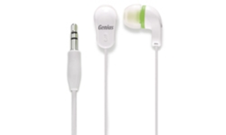 AURICULARES GENIUS GHP-200X WHITE/GREEN IN EAR