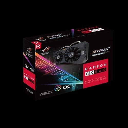 PLACA VGA 4GB RX 560 ASUS STRIX ROG GAMING O4G