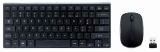 TECLADO + MOUSE CX 2.4GHZ WIRELESS BLK SLIM COMPACTO en internet