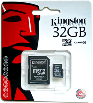 MICRO SD 32GB KINGSTON SDC10/32GB + ADAPTADOR