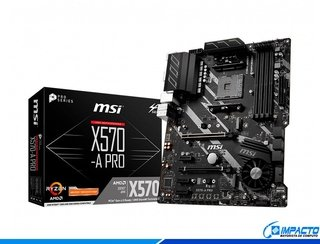 MOTHERBOARD MSI AM4 X570-A PRO BOX ATX