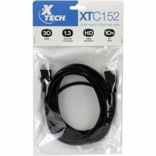 CABLE HDMI A HDMI 3 MTS 1080P 30AWG DIAM 7.3MM XTECH - Uno Informática Ecommerce