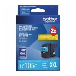 CARTUCHO BROTHER LC105 C P/MFC-6720DW 1200 PAG CYAN (I)