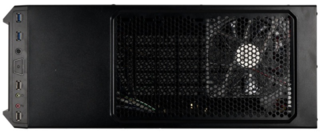 GABINETE GAMER CS-14 FAN12CMX2BLUE BLACK S/FUENTE - comprar online