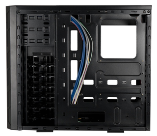 GABINETE GAMER CS-14 FAN12CMX2BLUE BLACK S/FUENTE