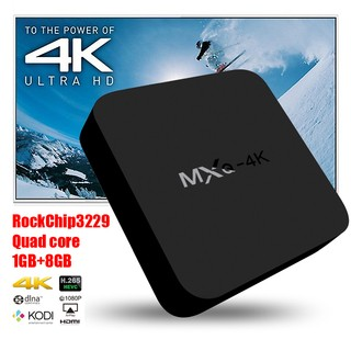 TV BOX ANDROID MXQ-4K RK3229 1+8GB AND 6.0 - comprar online