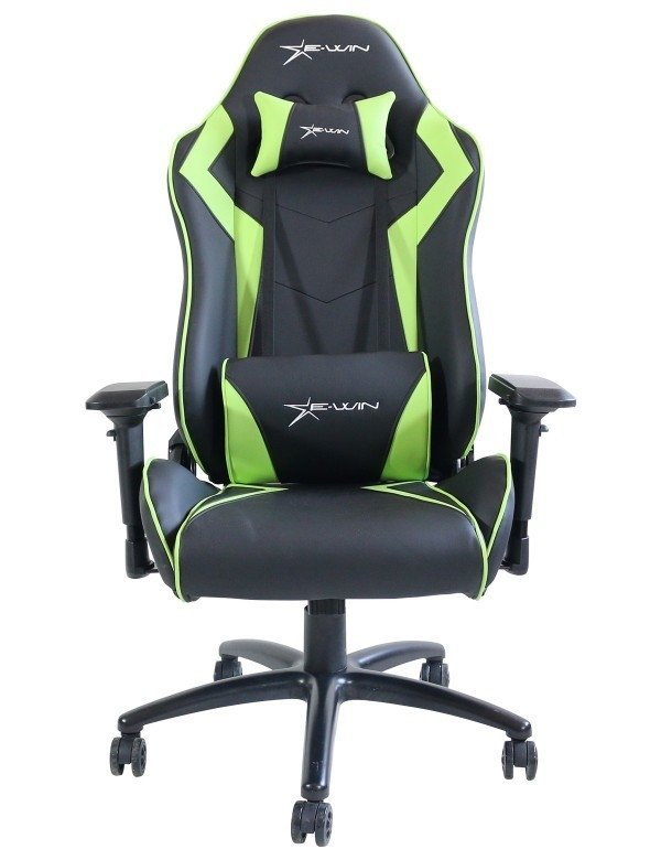 SILLA GAMER E-WIN CHAMPION SERIES 4D NEGRO/VERDE