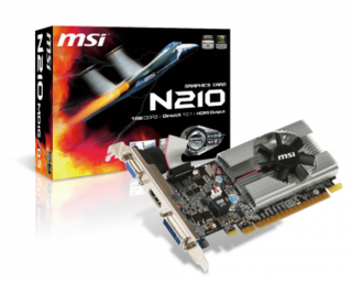 PLACA VGA 1GB G210 MSI DDR3 LP SINGLE SLOT - comprar online
