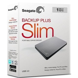 DISCO DURO PORTATIL BACKUP PLUS SLIM 1TB PLATA SEAGATE