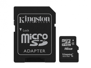 MICRO SD 16GB KINGSTON SD4/16GB + ADAPTADOR