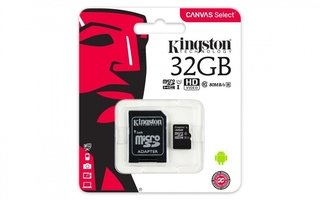 MICRO SD 32GB KINGSTON CANVAS CLASE 10 SDHC/SDXC - Uno Informática Ecommerce