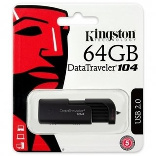 PENDRIVE 2.0 DT104 64GB KINGSTON