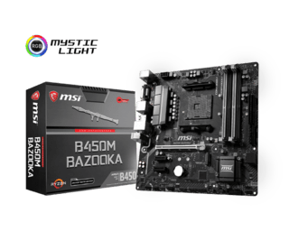 MOTHERBOARD MSI AM4 B450M BAZOOKA BOX M-ATX