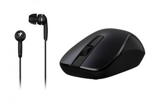 MOUSE+AURI GENIUS MH-7018 WIRELESS BLACK + IN EAR - tienda online