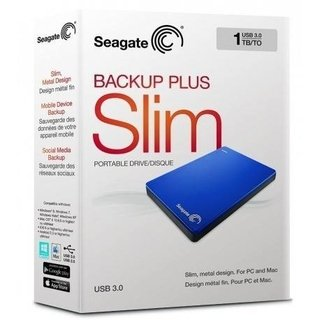DISCO DURO PORTATIL BACKUP PLUS SLIM 1TB AZUL SEAGATE