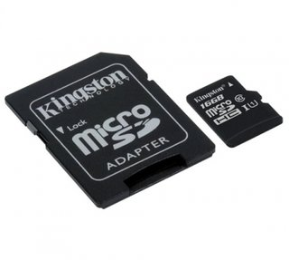 TARJETA MICROSDHC KINGSTON 16GB CANVAS C/ADAPTADOR - Uno Informática Ecommerce