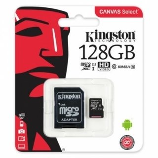 TARJETA MICROSDXC 128GB CANVAS C/ADAPTADOR KINGSTON