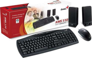 TECLADO + MOUSE + PARLANTES GENIUS KMS U110 BLACK PS/2 en internet