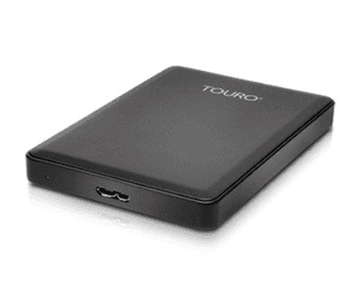 DISCO EXTERNO 1 TB PORTABLE HITACHI TOURO 3.0 USB 2.5 BLACK - comprar online