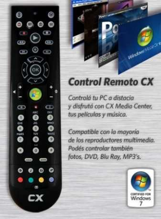CONTROL REMOTO CX MULTIMEDIA CENTER PC/NB USB en internet