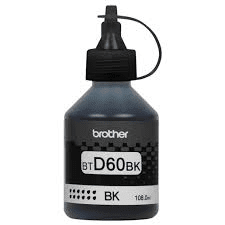 BOTELLA DE TINTA BTD60BK COLOR NEGRO BROTHER - comprar online