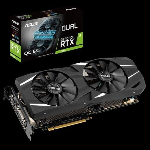 PLACA GEFORCE DUAL RTX 2060 O6G ASUS