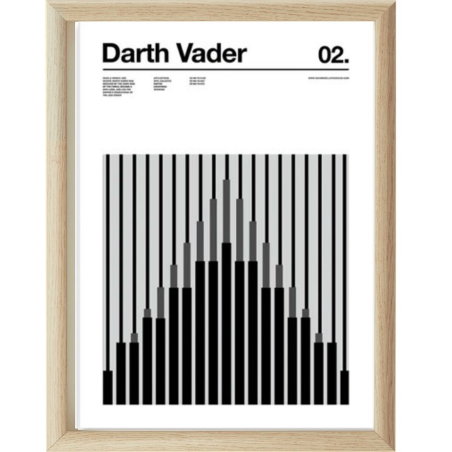 DARTH VADER | STAR WARS | 35x45 cm.