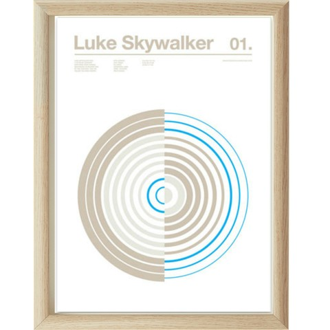 LUKE SKYWALKER | STAR WARS | 35x45 cm.