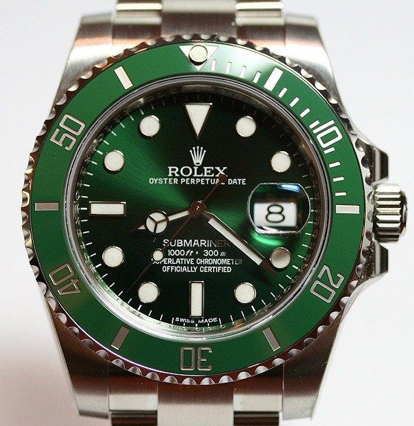 c087d1f7592 Rolex Submariner Prata e Verde Cerâmica 1º Linha Top Premium AAA