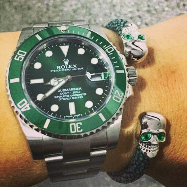 00eedf8d076 ... Rolex Submariner Prata e Verde Cerâmica 1º Linha Top Premium AAA -  Domínio Import ...