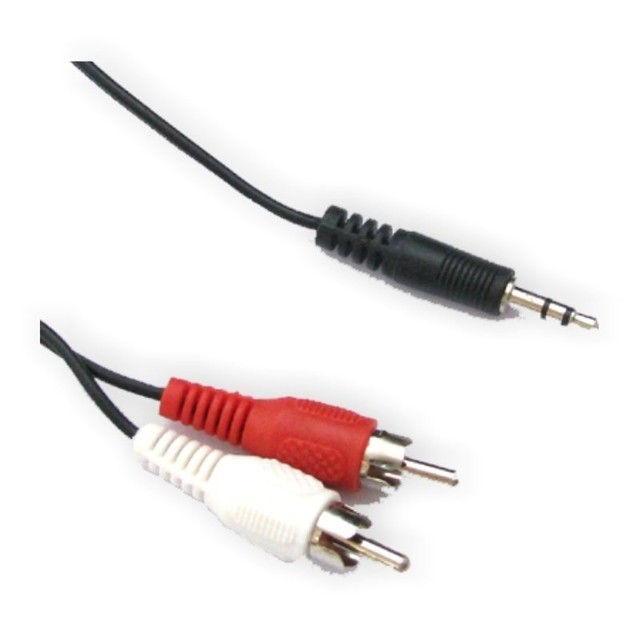 CABLE AUDIO MINIPLUG A 2 RCA 5M