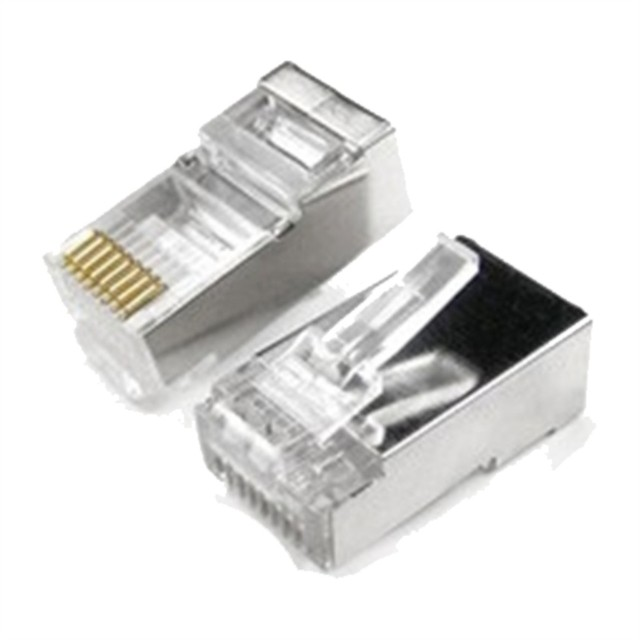 CONECTOR RJ45 SHIELDED CAT 5e 50 MICRONES - comprar online