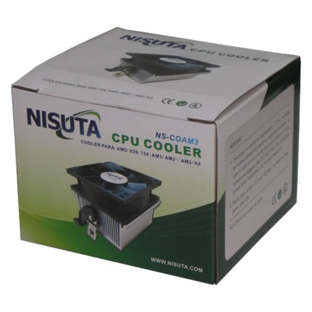 COOLER PARA AMD 939/754/AM3/AM2+/AM2/K8 NISUTA NS-COAM3 en internet