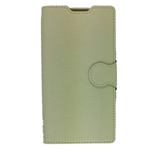 LEATHER CASE LG L70 BLANCO