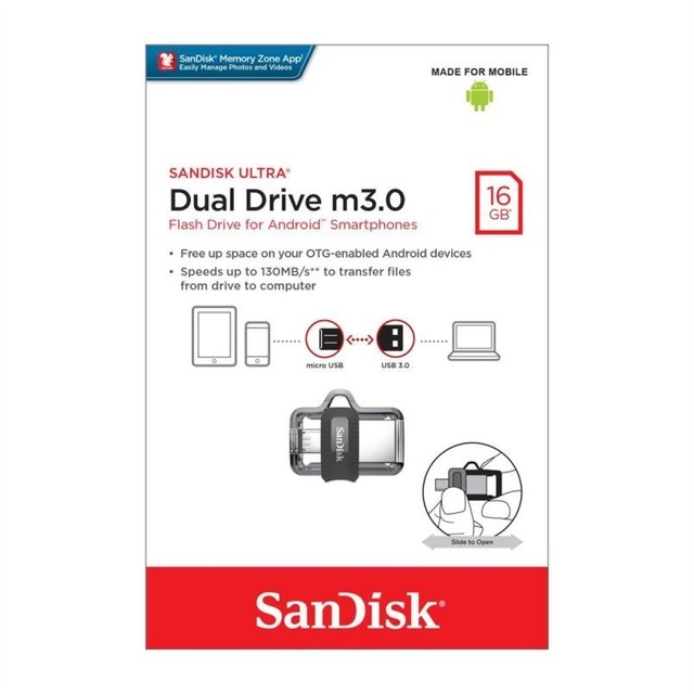 PENDRIVE 16GB SANDISK DUAL DRIVE M3.0 - comprar online