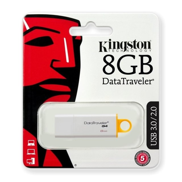 PENDRIVE  8 GB KINGSTON DATA TRAVELER G4 USB 3.0 / 2.0 - comprar online