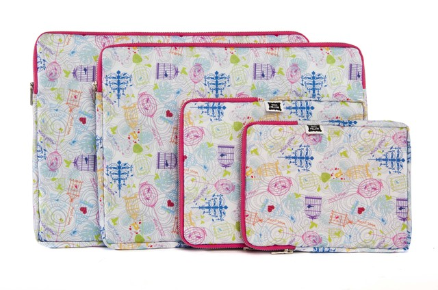 Funda Tablet - Con Cierre - Pajaritos - Miss Pillow
