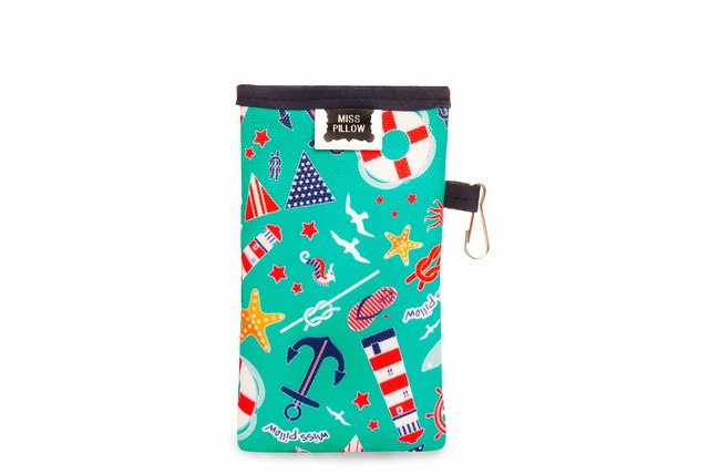 Funda Celular con ganchito - Navy