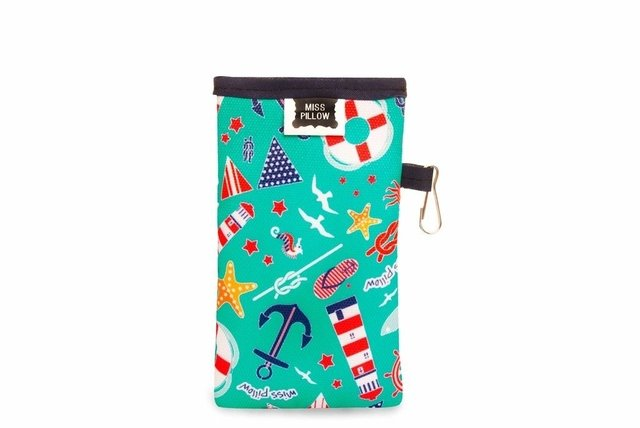 Funda Celular con ganchito - Navy - Miss Pillow