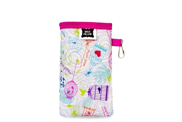 Funda Celular con ganchito - Pajaritos - Miss Pillow