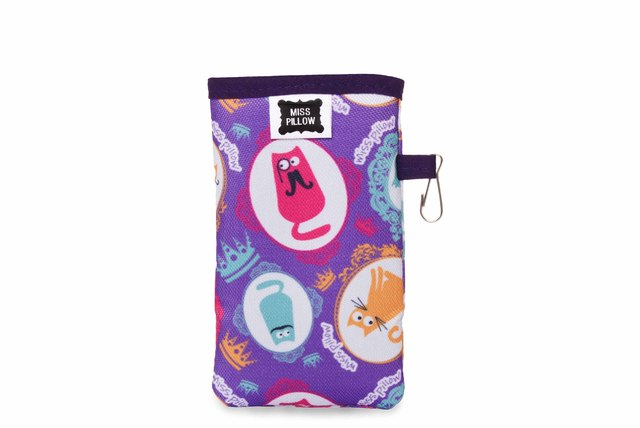 Funda Celular con ganchito - Gatitos