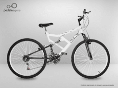 Bicicleta BRANCA Aro 26 Full Suspension 21 marchas