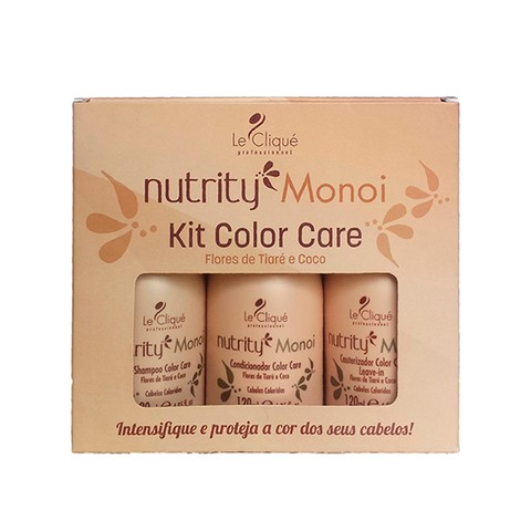 Kit Color Care Nutrity Monoi - Shampoo, Condicionador e Cauterizador Color Care 120ml