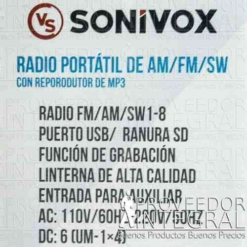 Radio Recargable Multibandas Am Fm Sw Mp3 Usb Sd en internet
