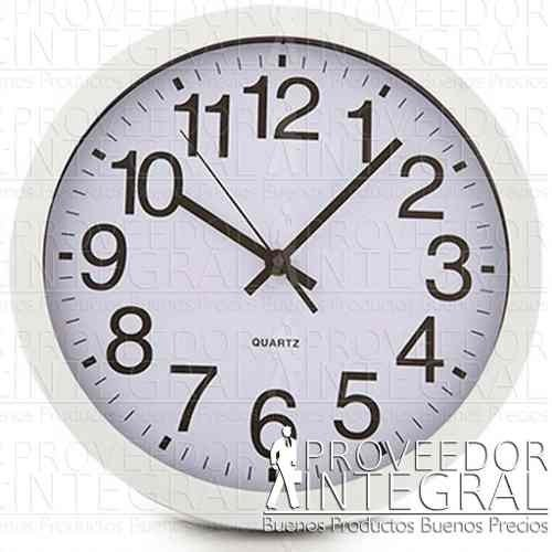 Reloj De Pared Blanco 29.5cm De Diametro